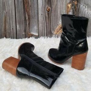 8M Boots Jeffrey Campbell Hanger Leather Platform